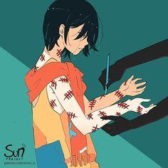Mimi N are creating SUN Project - Fanart - Critique Sad Anime, Anime Art, Sun Projects, Sad Drawings, Deep Art, Arte Obscura, Sad Pictures, Sad Wallpaper, Sad Art
