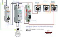 Esquemas eléctricos: ILUMINACION CON COMBINADAS CRUZAMIENTO CONTACTOR M...