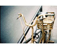 A Golden Ride via Bonnie Tsang by dena Golden Bike, Shades Of Gold, Bike Style, Wishbone Chair, Color Inspiration, Design, Gold Rush, Gold Gold, Biking
