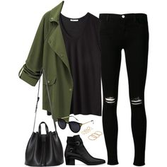 Untitled#2803 by fashionnfacts on Polyvore featuring T By Alexander Wang, J Brand, Yves Saint Laurent and MANGO