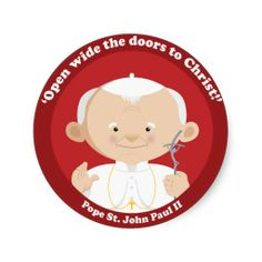 Shop St John Paul II Classic Round Sticker created by happysaints. Personalize it with photos & text or purchase as is! Saint Peter Square, Catholic Saints, Catholic Kids, Catholic School, Roman Catholic, Juan Pablo Ii, Pope John Paul Ii, Christian Kids, Religious Images