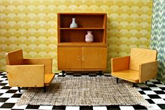 Vintage Playscale handmade wooden furniture by DollEnthousiastHome, €37.50