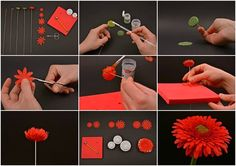 Cake decorating: Tutorial  - how to - Gerbera flower