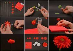 Cake decorating: Tutorial  - how to - Gerbera flower
