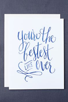 Bestest Like Ever Card by Leen Jean Studios {sweet 'lil thank you card}