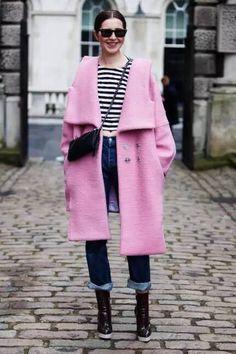 A fun coat adds interest.