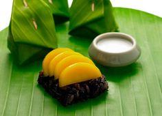 dessert: black sticky rice with mango (from chivasom spa cuisine)