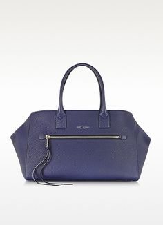 The Big Big Apple Marine Blue Leather Tote - Marc Jacobs