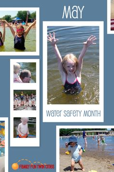 May is National Water Safety and Drowning Prevention Month. This important topic impacts all families. Every adult who supervises children needs to know basic information on how to keep kids safer in and around water. Swim School, Water Safety, Twin Cities, Safety Tips, May, Children, Kids, Families, Swimming