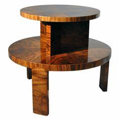 Art Deco two tier coffee table by Lajos Kozma.