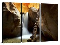 One of our Triptych Canvas prints of Kanarra Creek located in Utah. #greatbigphotos  Be sure to visit the link in our bio for all of your printing needs.