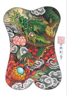 Koi Tattoo Design, Shiva Tattoo Design, Dragon Tattoo Designs, Full Hand Tattoo, Full Back Tattoos, Back Piece Tattoo, Chest Piece Tattoos, Japanese Tattoo Designs, Japanese Tattoo Art