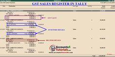 GST Sales Register in Tally