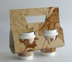 Takeaway for coffee by Milena Włodarczyk, via Behance