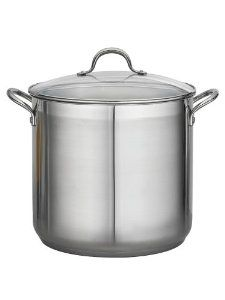 Tramontina 24-qt. Commercial StockPot. by Tramontina. $149.95. Cleaning & Care: Dishwasher-Safe. Origin: China. Material: 18/10 Stainless Steel. Size/Capacity: 24-qt.. 24 QT COMMERCIAL COVERED STOCK POT - 18/10 SS.. Save 40% Off!