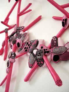 """Saatchi Online Artist: dorothée van biesen; Fabric / Textile, 2011, Mixed Media """"microbes 1"""""""