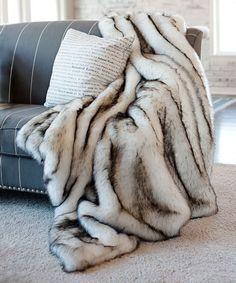 Donna Salyers Fabulous-Furs Norwegian Fox Faux Fur Throw | zulily