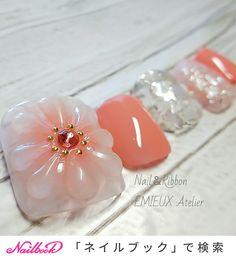 Pedicure Nail Art, Toe Nail Art, Japan Nail Art, Acrylic Toes, Cute Toe Nails, Kawaii Nails, Feet Nails, Trendy Nail Art, Luxury Nails