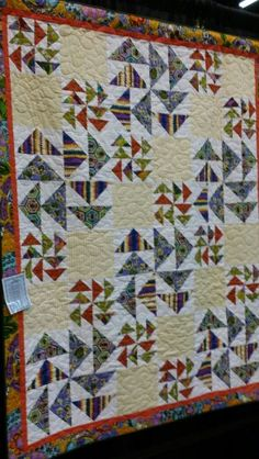 Flying geese at quilt show