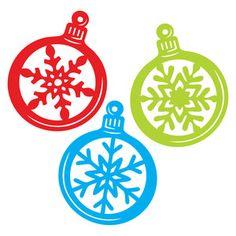 Silhouette Design Store: snowflake ornaments