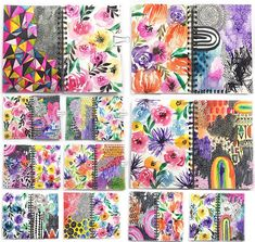 """92 Likes, 3 Comments - Alisa Burke (@alisakburke) on Instagram: """"I just filled up another 40 page art journal! Some pages took days while others took minutes. The…"""""""