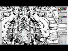 Digital Inking - Split Wide Open. Adobe Illustrator mastery! Wow.