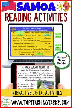 Engage your students in the study of Samoa with our paperless Samoa Digital Reading Comprehension Activity. Your students will learn about the geography, history, language, and culture of the Pacific nation of Samoa. This would be great for Samoan Language Week, as a social studies product, and in your guided reading program! In 2020, Samoan Language Week is Sunday 24 May to Saturday 30 May. Perfect for Google Classroom or Microsoft One Drive.