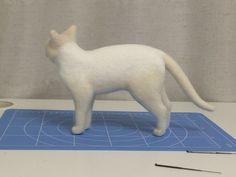 ボボチン仕上げ の画像 ネコ作りの現場から~横山まゆみのリアルで可愛い羊毛フェルト猫