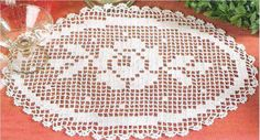 Roses Au Crochet, Art Au Crochet, Crochet Books, Crochet Home, Crochet Doily Diagram, Filet Crochet, Crochet Patterns, Crochet Placemats, Crochet Doilies