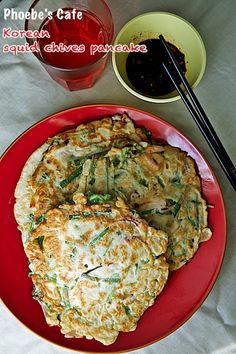 오징어 부추 부침개 레시피, 한국 음식, 부침 요리,
