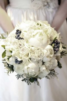 The blueberries in Chiara's bouquet were one of my favorite things about the wedding!