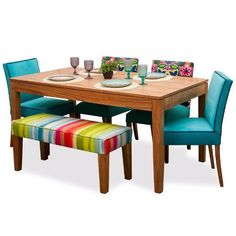 Simple Dining Table, Wooden Dining Tables, Dining Table Design, Dining Nook, Dinning Table, Dining Chairs, Cute Furniture, Dining Furniture, Mexican Dining Room