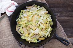 This Cabbage with Apple and Onion recipe is savory and takes ten minutes to make! It's Paleo and Whole30-friendly, so put it on tonight's menu!