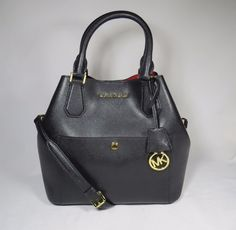 7625a138f061 Michael Kors Greenwich Large Black Leather Grab Bag Tote $358 #MichaelKors  #TotesShoppers Grab Bags