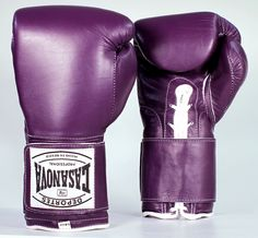 Original Deportes Casanova Sparring/Training Hybrid Boxing Gloves W/ VELCRO - Purple