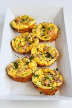 Mini Frittata Recipe with Prosciutto & Parmesan Cheese | cookincanuck.com #recipe #breakfast
