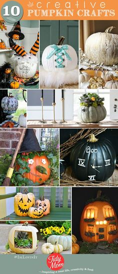 #booitforward with these 10 Creative Pumpkin Crafts at TidyMom.net