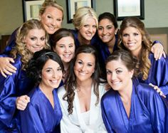 Bridesmaid Robes Purple wedding robes bridesmaid silk robe dressing ...