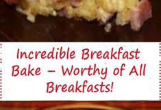 Incredible Breakfast Bake – Worthy of All Breakfasts! Apple Cinnamon Loaf, Cinnamon Apples, Jamaican Desserts, How To Cook Sausage, Breakfast Bake, Bread Recipes, Banana Bread, Easy Meals, The Incredibles