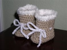Free pattern - Crochet baby booties