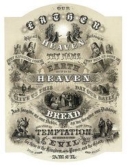 Angels Christian Art - The Lords Prayer - 1876  by Daniel Hagerman
