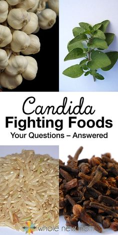 What Foods Fight Candida? Find out here! When first discovering you have candida overgrowth, it can be overwhelming to navigate what's right and wrong for healing. Here's a great run down of 10 frequently asked questions about candida fighting foods. Natural Health Remedies, Natural Cures, Cold Remedies, Herbal Remedies, Dieta Candida, Candida Diet Recipes, Candida Diet Food List, Anti Candida Diet, Candida Overgrowth