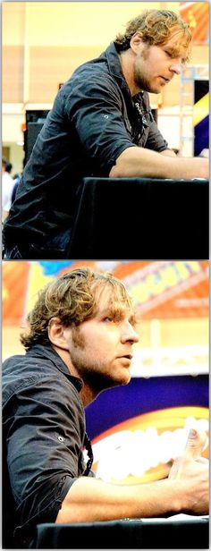 I Was There When He Was Signing Autographs... He's A Teddy Bear<3 I Got A Signed Picture... And A Dean Ambrose Doll<3