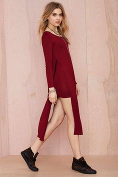 Have something a little more low-key planned for Valentines Day? You'll need a casual outfit to make you feel comfortable. Try this Higher Love Knit Dress from Nasty Gal!