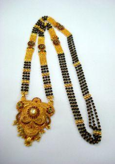 22kt gold necklace pendant mangalsutra traditional kundan meena jewelry