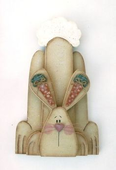 "Primitive Wood Pattern Mr Carrot Ears Bunny 13"" - Clear Creek Creations"