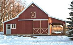 41 Small Barn Plans - Complete Pole-Barn Construction Blueprints for Small Horse Barns, All-Purpose Backyard Barns, Workshops and Garages Small Barn Plans, Pole Barn Plans, Building A Pole Barn, Barn House Plans, Cabin Plans, Work Shop Building, Barn Homes Floor Plans, Barn House Kits, Small Horse Barns