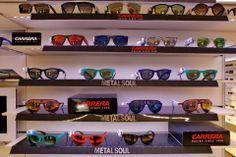 """Il trend di quest'anno... vuole occhiali coloratissimi! Questa è la nuova collezione """"Metal Soul"""" di #Carrera: stile e colore per modelli grintosi. E voi quale preferite? #SVeventi"""