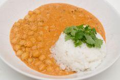 kikertkorma Korma, Chana Masala, Risotto, Veggies, Dinner, Ethnic Recipes, Food, Dining, Vegetable Recipes