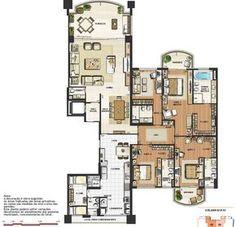 Guest House Plans, Small House Floor Plans, Apartment Floor Plans, Sims 4 Houses, Ground Floor Plan, Penthouses, Plan Design, Exterior Design, Home Goods